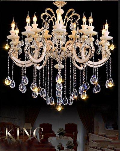18 Licht-kristall-kronleuchter (Wohnzimmer Schlafzimmer Lobby Zink Alloy Jade Kristall Kronleuchter , 18)