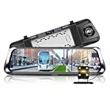 Phisung E08 10in IPS Touch Screen Car Driving Recorder Dual Lens Bluetooth WiFi 4G Android 5.1 Car Rearview Mirror DVR Camera Dash Cam With 160 Degree Wide Angle, WDR, G-Sensor, Loop Recording