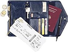 Viaje Organizador Protección de RFID-reisegeldbörse para documentos de viaje, pasaporte y tarjetas de crédito-Tarjetas de Crédito contra el robo de Identidad Proteger