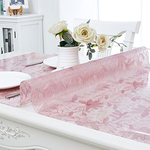 Verre transparent souple Table Couvertures Pvc Café Couverture Chiffon Serviette Géométrie Motif plante fleur étanche anti anti-salissure moisissures élégant, PVC, 90*160cm