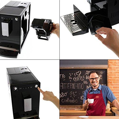 515eROsJo9L. SS500  - Melitta E950-101 CAFFEO Bean to Cup Coffee Machine, Solo, Plastic, 1400 W, 1.2 liters, Black