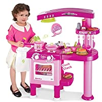 Childrens, Kids Large Toy Kitchen, Pretend Play with 30 accessories