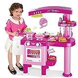 Große Spielzeugküche für Kinder - Kinderküche mit 30 Zubehörteilen - Rosa