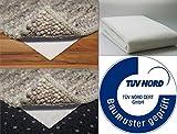 Teppich Bremse Stop Teppichunterlage für harte textile alle Böden Anti Rutschunterlage Rutsch Unterlage Premiumqualität hergestellt in Deutschland (ca. 60x130 cm)