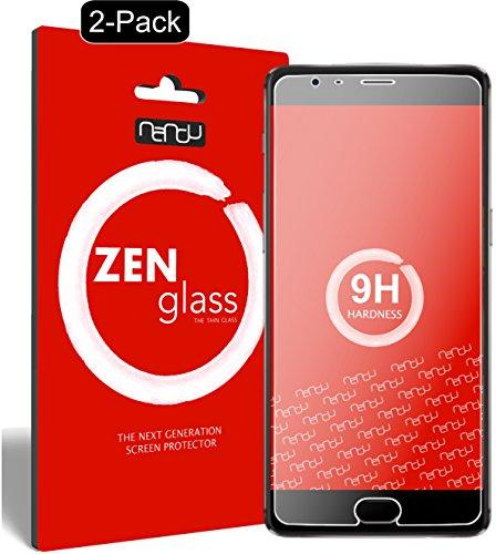 nandu I ZenGlass [2 Stück] Flexible Glas-Folie für OnePlus 3T Panzerfolie I Bildschirm-Schutzfolie 9H I (Kleiner Als Das Gewölbte Bildschirm)