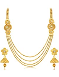 Sukkhi Jewellery Set for Women (Golden)(3250NGLDPKN1000)