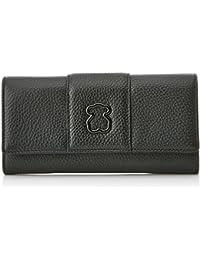 Billetero Peque?o Alfa de Piel, Womens Wallet, Negro (Black), 2.5x8x10 cm (W x H L) Tous
