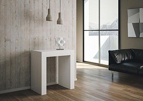 Group design consolle inside allungabile bianco poro aperto in legno per ingresso ry-co/031-bpa