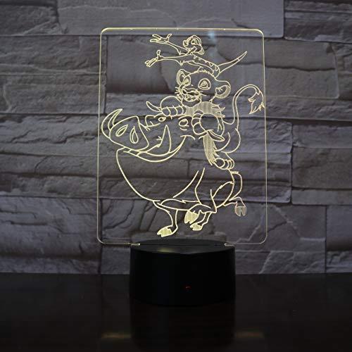 Wang Simba ha decorato i bambini conducendo la luce notturna per bambini luce notturna fredda della batteria luce nottu