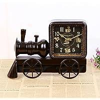 COLLECTOR Locomotiva seppia creative orologio simplex silenzio campana ornamenti decorazioni home artigianato del ferro impostata a pendolo