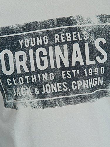 Jack & Jones JORTRAFFIC TEE SS CREW NECK APRIL Mirage Grey