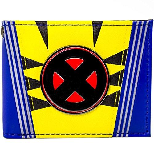 X-Men Metallic Logo Wolverine Anzug Blau Portemonnaie (Kind Iceman Kostüm)