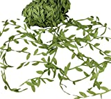 Chytaii Blätter Jute Verziert Fake Laub Girlande Blätter Deko Blätter Materialverpackung Künstlicher Grün 10M