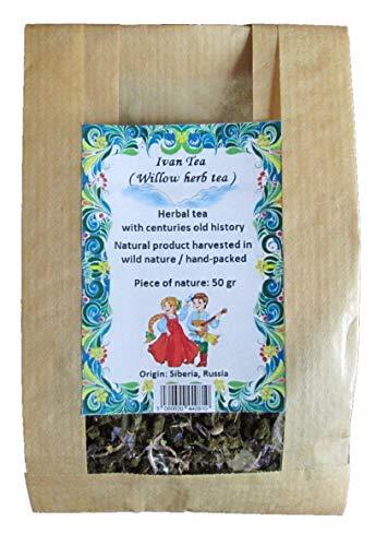 50g Schmalblaettriges Weidenroeschen fermentiert/Epilobium angustifolium/Willow herb Tea/Ivan Tea with Flowers/Fermented Green Tea/Slimming Tea -