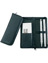 ALASSIO étui en cuir avec fermeture à glissière pour 3 stylos ou crayons