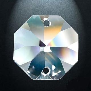 Asfour Crystal-1080 Octagon Kristall-Kronleuchter Prismen, 20 mm, 2-Loch. Box mit 585 Stück