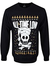 All Time Low Skull Christmas Pull Over - Sweater Noël