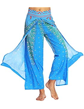 DAYLIN Pantalones, Mujer Verano Casual Suelto Pantalones de Yoga Boho Aladdin Pantalones Anchos