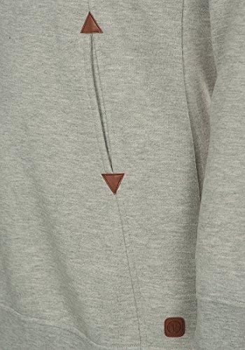 DESIRES Vicky Hood-Long Damen Kapuzenpullover Lang Hoodie Sweatshirt Sweat-Kleid mit Kapuze und optionalem Teddy-Futter aus hochwertiger Baumwollmischung Light Grey Melange (8242)