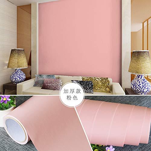 Einfache moderne TV Wohnzimmer Tapete selbstklebende Schlafzimmer tief geprägte Seidentapete wasserdicht dick selbstklebende einfarbig dick rosa
