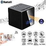 Telecamera Nascosta Spia WiFi Spy Cam TANGMI Microcamera Spia Bluetooth Speaker Sveglia 1080P HD Nanny Cam con Rilevamento del Movimento Visione Notturna 140°
