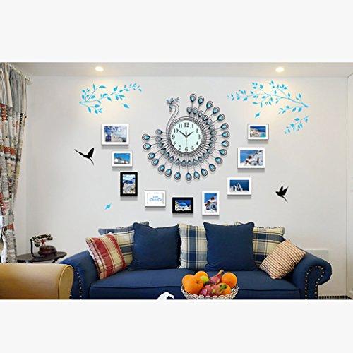 Cadres photo Large Escalier Photo Mur Bois Massif Salon Chambre Cadre Photographique créatif Papier Mural Restaurant Moderne Photo Simple Mur Européen Gros Plan Mute l'horloge