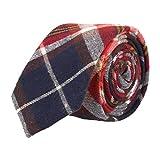 Andrews & Co. Estrecho lazo de tela escocesa Marina Azul Rojo Blanco Amarillo