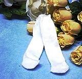 Schwenk Puppenkleidung, Puppen Strumpfhose weiß für Pupppen von 30 - 33 cm