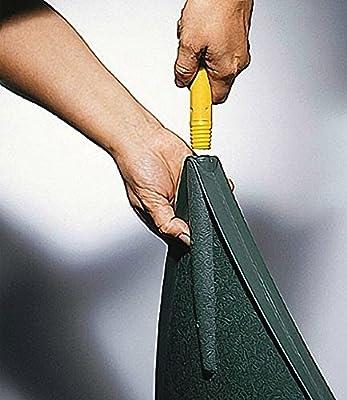Kunststoff-Laubbesen XL Fächerbesen Arbeitsbreite 60 cm grün 29 Zinken optional mit Teleskopstiel