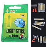 Generic 25Pcs 30m Multi-Color Fishing Float Fluorescent Lightstick Light Rod Dark Stick Float Rod Lights Dark Glow Stick for Fishing