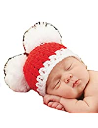 Mud Pie Christmas Pom-Pom Hat (0-6 Months)