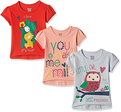 Donuts Baby Girls' T-Shirt (Pack of 3) (272514751_Assorted_18M)