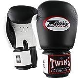 Twins Boxhandschuhe, Leder, BGVL-3, schwarz-weiß
