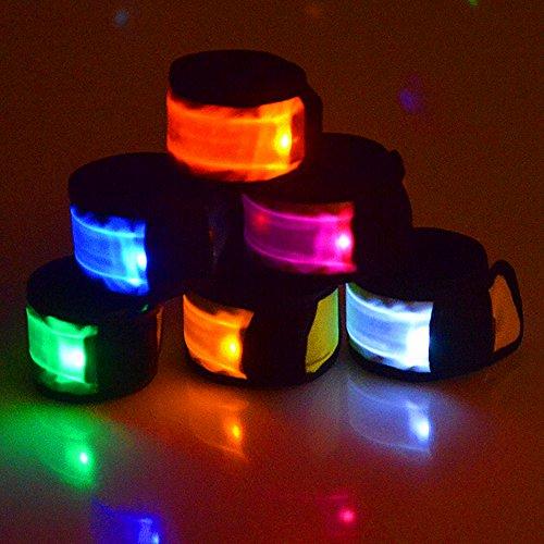 Esonstyle 6 Stücke LED Leuchtband Slap Armbänder Nacht Sicherheit Armband für Radfahren, Walking, Laufen, Camping, Party, Weihnachten, Outdoor-Sport Test