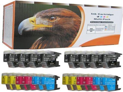 Preisvergleich Produktbild 20 XL komp. Druckerpatronen für Brother MFC 5910 6510 6710 6910 MFC-j5910DW MFC-j6510DW MFC-j6710DW MFC-J6910DW (kompatibel, sie bekommen 8 x schwarz 4 x blau 4 x rot 4 x gelb)