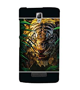 Takkloo tigar wild animal,black background, angry tigar, tigar in woods) Printed Designer Back Case Cover for Lenovo A2010