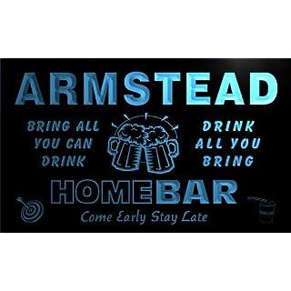 q01325-b ARMSTEAD Family Name Home Bar Beer Mug Cheers Neon Light Sign