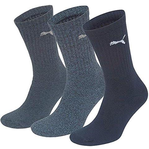 Puma Unisex Sport Socken in gewohnter Puma Markenqualität. 9 Paar,mt (47/49, Navy)