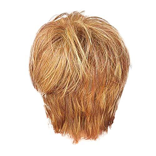 Perücke Braun,Rifuli®Frauen perücke mode natürliche dame kurze gold haar volle perücken hohe qualität