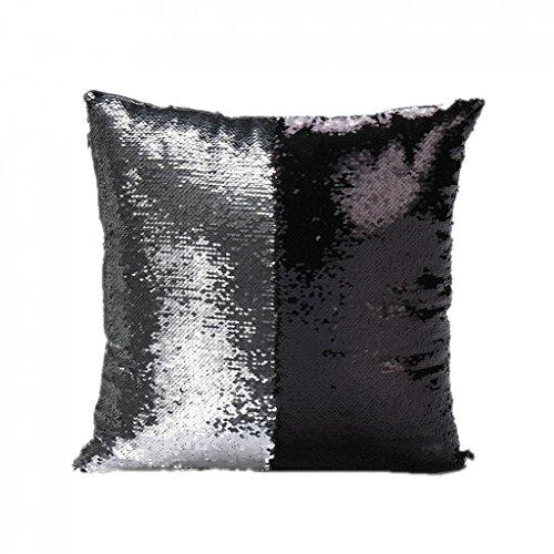 Generic copricuscini fodere paillettes per letto divano reversibile in pelle scamosciata decorazione casa - 11