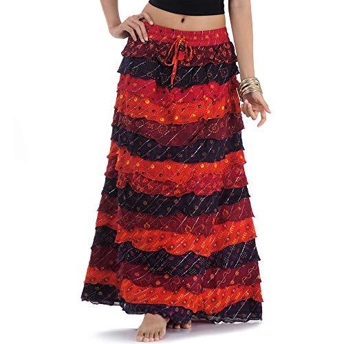 Langer Hippie Batik Patchwork Gypsy Zigeuner Rock S M 36 38 40