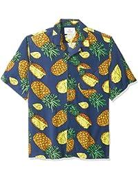 Marca Amazon - 28 Palms - Camisa vintage de rayón 100 % lavado y con corte holgado para hombre, diseño tropical hawaiano