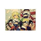 Bellenne Naruto Shippuuden Poster Boruto Poster Anime Fanartikel Manga Poster Wasserdicht Anti-Fade Wanddekoration Wandaufkleber Wandtattoo Wandbilder für Außenbereich / Garten / Badezimmer (H01)