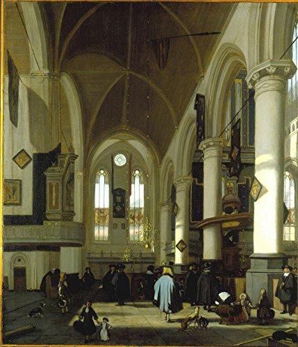 Das Museum Outlet–Innere der Oude Kerk in Amsterdam (3), gespannte Leinwand Galerie verpackt. 29,7x 41,9cm