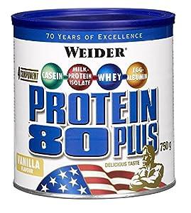 Weider, 80 Plus Protein, Vanille, 1er Pack (1x 750g)