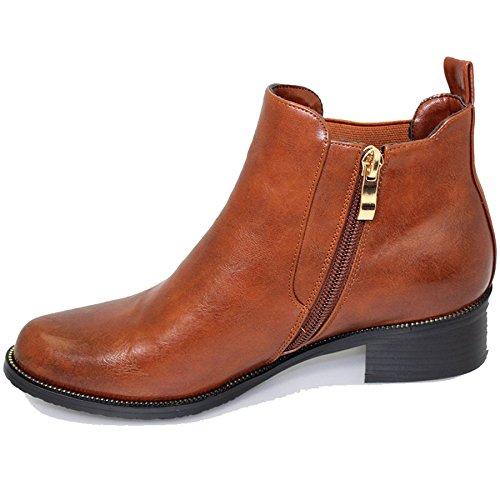 Boots Le Tacco Bowey Pannello Tan Per Punto Donne Fantasia Espandibile Glc464 Chelsea Intrappolano Negozio HCPxwUqn