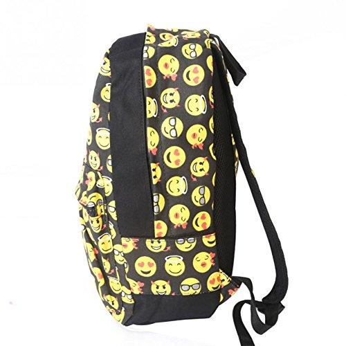Imagen de wuiyepo regreso a la clase sonriente cara casual daypacks emoji escuela libro bolsos  alternativa