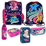 My Little Pony Pferd Einhorn Schulranzen Set 6 Teile Federmappe Tornister Ranzen Federtasche Turnbeutel Mit Sticker Von Kids4shop Brotdose