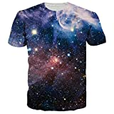Leapparel Unisex Galaxie Raum Ganz überdruck Beiläufige Stilvolle T Shirts Kleid M