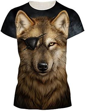 OYABEAUTYE Unisex 3D Digital Impreso Personalizado Manga Corta Camisetas Tees Tops